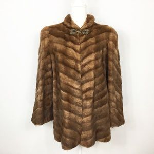Vintage John Jobe Genuine Fur Swing Coat